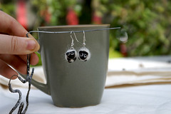 sheep earrings front