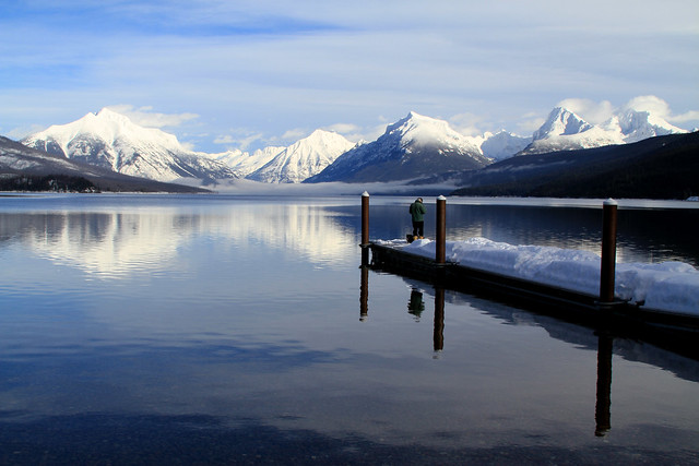 Winter Fishing on Lake McDonald