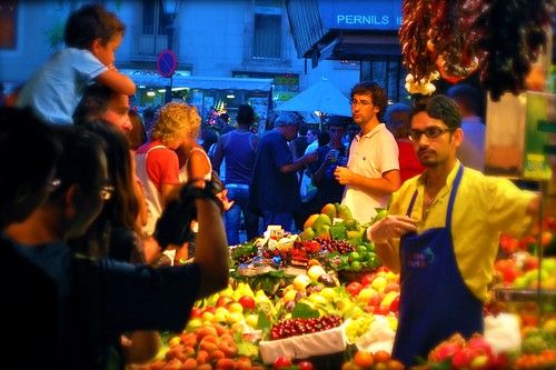 Busy Barcelona market