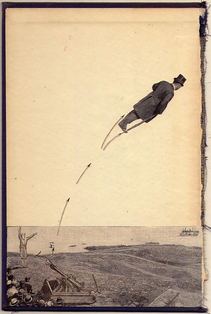 Avistamiento de oligarca en la costa del Rio de la Plata,              catapultandose hacia Paris. Buenos Aires 1910.