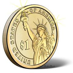 US Dollar Coin - Illustration