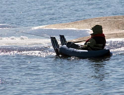 Flipper powered fishing vessel in Helsinki