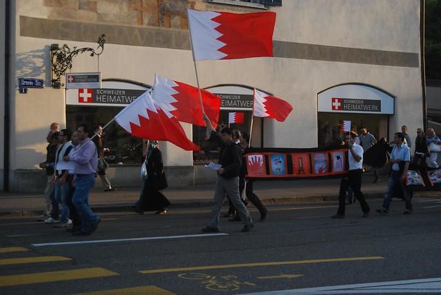 Menschenrechtsdemonstration für Bahrein in Zürich