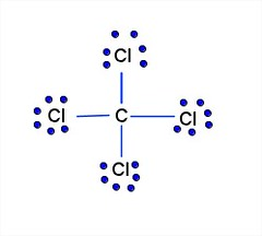How many lone pairs of electrons are in CCl4?   eNotes
