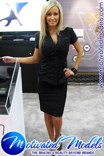 Blonde Trade Show Models Motivated Models