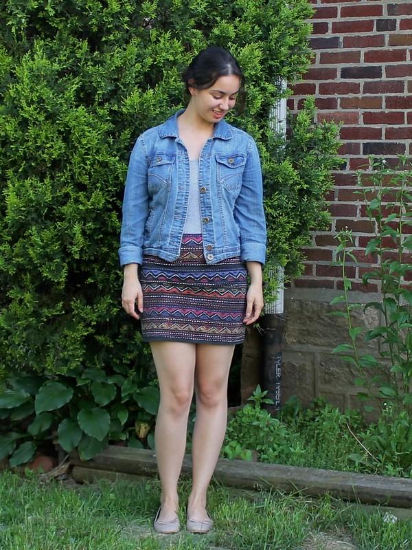 Global Print Skirt