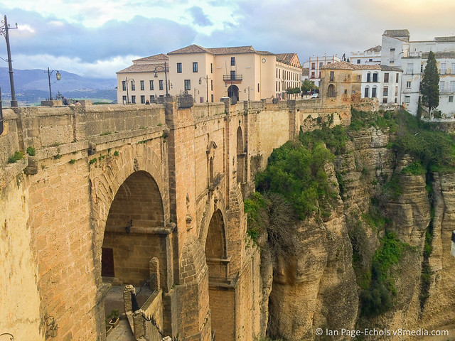 Ronda bridge and buildings