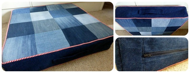 Denim picnic cushion