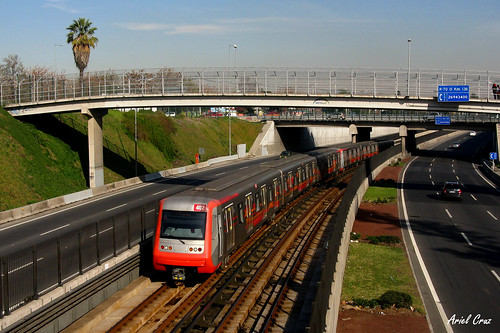 Metro de Santiago - Alstom Metropolis AS2002 - Rotonda Quilín
