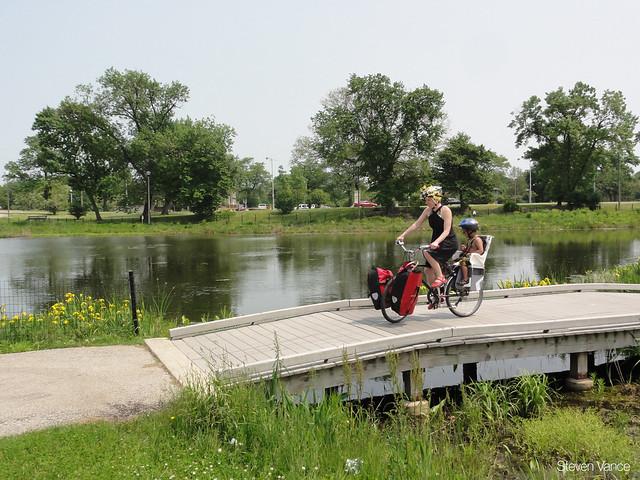 Riding near the lagoon