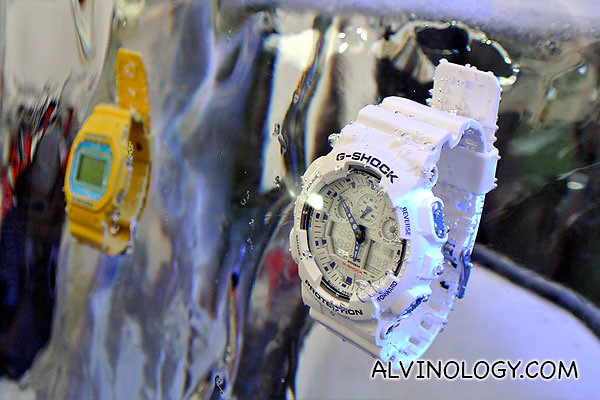 Indestructible Casio G-Shock - the time still ticks even if the watches are cast in ice