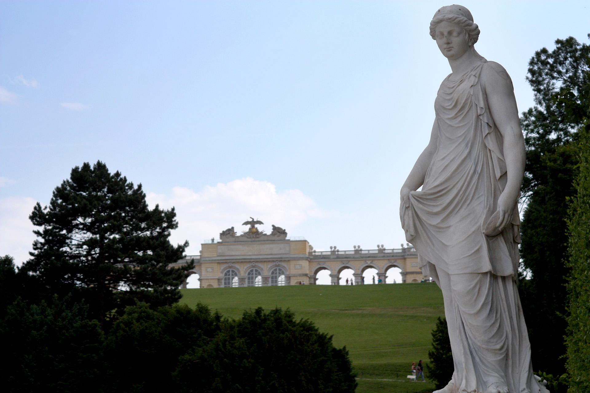 Statue on the grounds, Schönbrunn Palace.