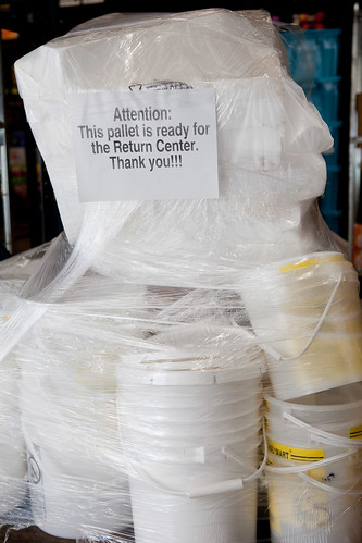 Recycling polystyrene plastic through Walmart's Return Centers