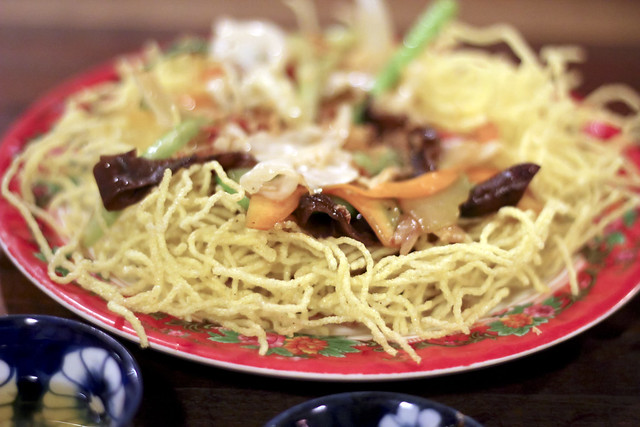 fried yellow noodles with vegetables