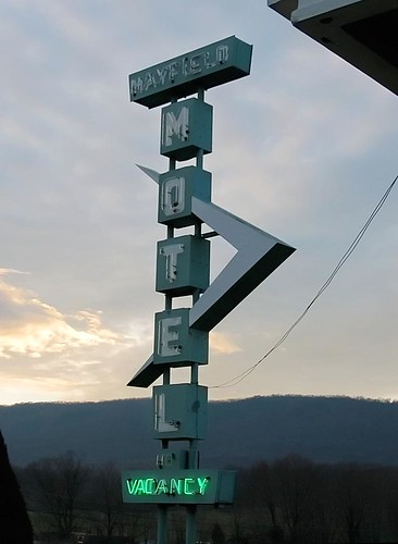 Winchester, VA motel sign. Photo copyright Jen Baker/Liberty Images; all rights reserved