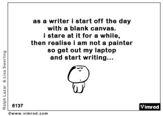 My life as a writer...