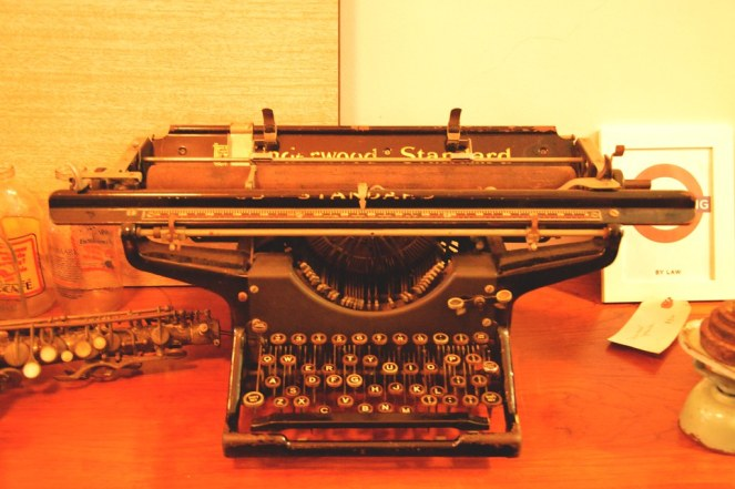 vintage retro typewriter