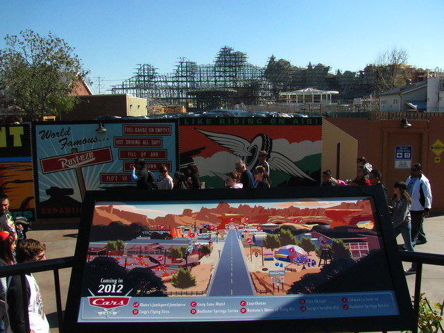 Progress on Cars Land
