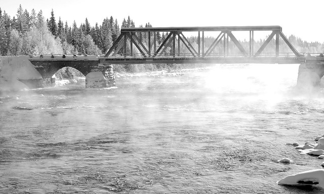 Steamy river