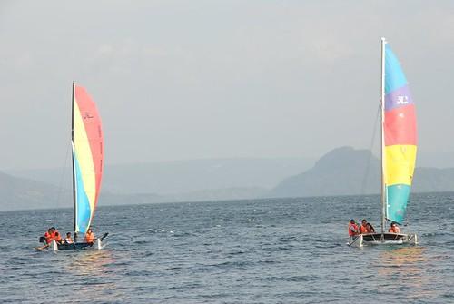 Sailing at Taal Lake