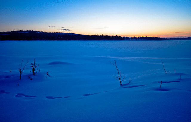 Sunrise in Lapland