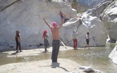 Guadalupe Canyon Waterfall