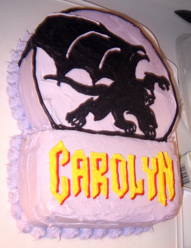 20110305 2207 - Carolyn's 35th birthday party - Gargoyles cake! - IMG_2894
