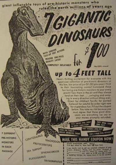 """Selections from """"The Dinosaur Scrapbook"""" by Donald F. Glut"""