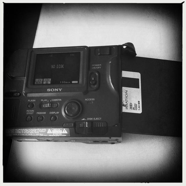 Faux Vintage photo of a real vintage digital camera