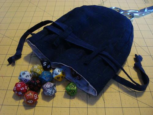 Making a dice bag 4