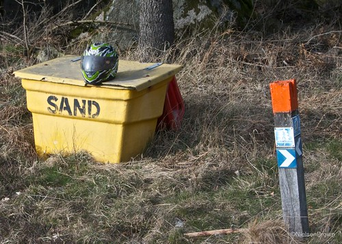Helmet Sand Sign