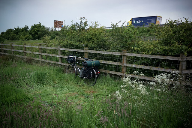 Wild-camping by the motorway
