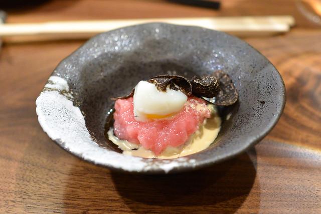 Bluefin Toro Tartare, Blue Crab, Quail Egg