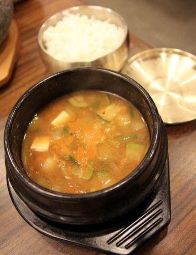 Doenjang Chigae at Sariwon Korean Barbecue