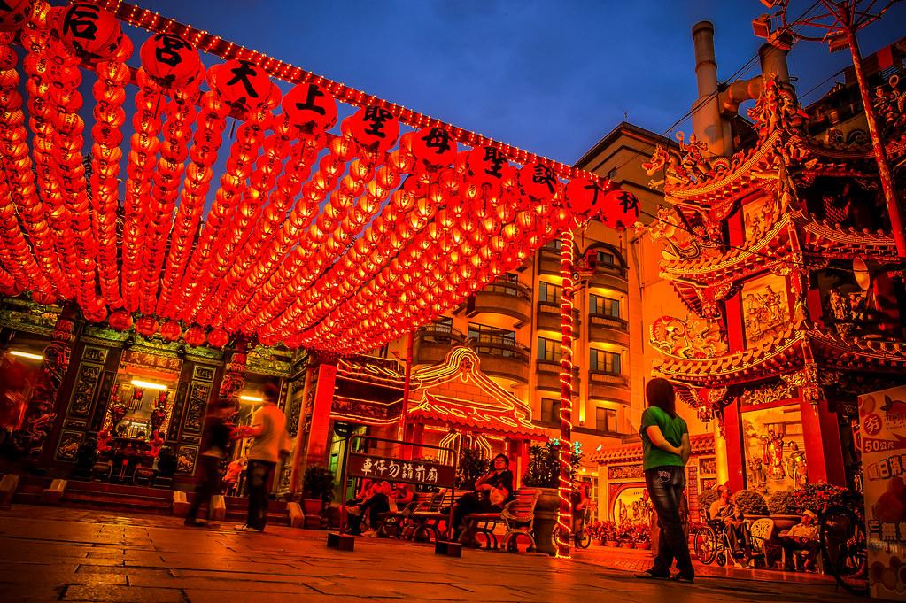 Tianhou Temple Girl In Green
