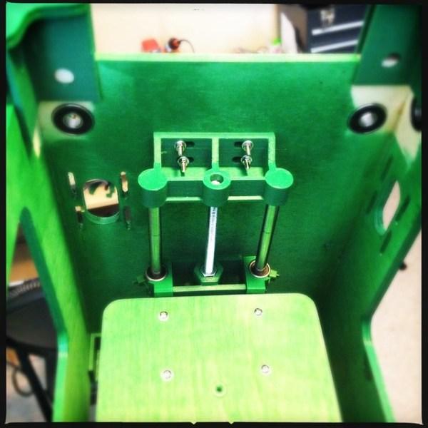 Inside my Tantillus 3d printer during assembly