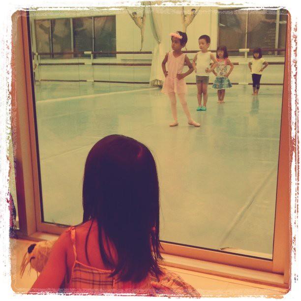 watching her future class dancing