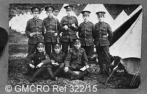 Army training camp in France, c.1914. (GB124.DPA/322-15)