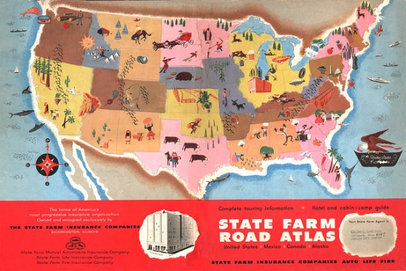 State Farm Road Atlas 1950
