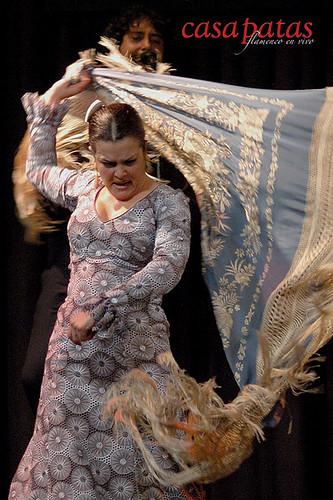 Isabel López en el tablao de Casa Patas. Foto: Martín Guerrero