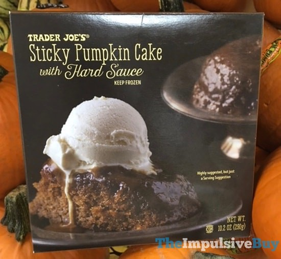 Trader Joe's Sticky Pumpkin Cake with Hard Sauce