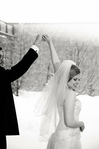Katherine + Luis | Winter Wedding Dance at UNBC