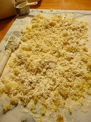 Homemade Gnocchi - second layer of flour