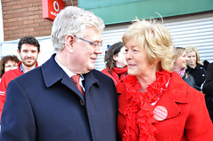 The Great Leader bestows his benevolent countenance on Anne Ferris TD