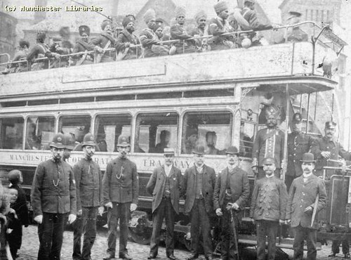 Tram full of Indian Soldiers, 1915