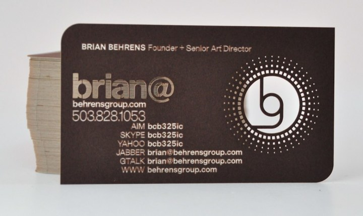 Stack of Behrens Group cards