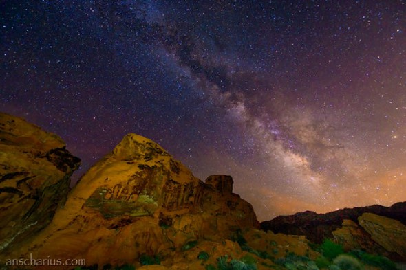 Milkyway over Valley of Fire - Nikon D800E - AF-S 2,8/14-24mm