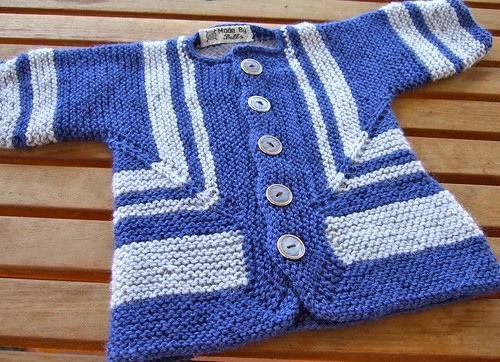 Blue and Silver Baby Surprise Jacket