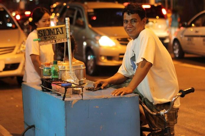 street vendor on a bike