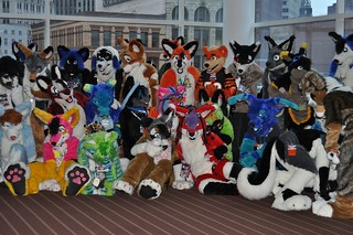 Furries on parade, sort of